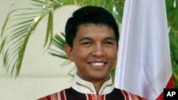 Madagascar interim president Andry Rajoelina