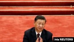 習近平2020年9月8日出席中國全國抗擊新冠肺炎疫情表彰大會 。(路透社圖片)