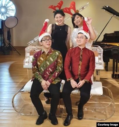 Dari kiri atas arah jarum jam: Dr. Edith Widayani, Nia Sudjati, Daniel Alexander dan Randy Ryan. (Foto courtesy: Nia S.)