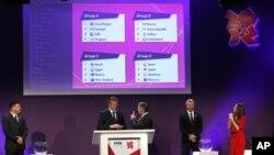 Penarikan undian pertandingan sepakbola Olimpiade London 2012 diadakan di Stadion Wembley, London, 24 April 2012.