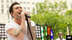 "FILE - Maroon 5 front man Adam Levine performs on NBC's ""Today"" show."