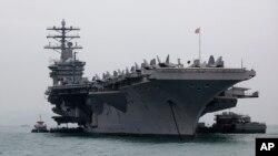 미 해군 핵추진 항공모함 니미츠호.
