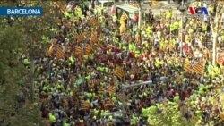Barcelona'da 'Katalan Günü' Kutlamaları