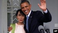 BaraCk Obama na Aung San Suu Kyi atavugarumwe n'ubutegetsi muri Birimaniya