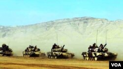 აზერბაიჯანული ტანკები T-90C
