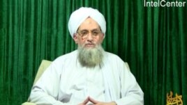 "This still image from video obtained courtesy of a group called ""IntelCenter,"" showing Al-Qaeda leader Ayman al-Zawahiri appearing in a new video released, October 11, 2011."