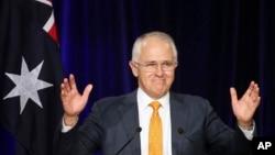 Perdana Menteri Australia Malcolm Turnbull dalam sebuah kampanye di Sydney. (Foto: Dok)