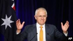 Perdana Menteri Australia Malcolm Turnbull dalam kampanye di Sydney (3/7).