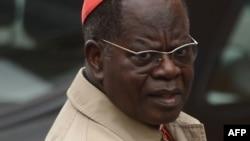 Le cardinal congolais Laurent Monsengwo Pasinya lors d'une réunion de pré-conclave au Vatican, le 9 mars 2013.