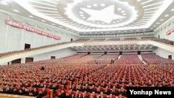 북한은 30일 김정은 최고사령관 추대 2주년을 맞아 중앙보고대회를 열었다.