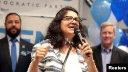 Temsilciler Meclisi'ne seçilen Filistin kökenli Amerikalı müslüman Rashida Tlaib
