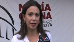 Ma. Corina Machado apoya sanciones