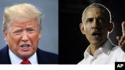 Hai ông Trump và Obama