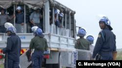 La police zimbabéenne à Harare, en janvier 2019.