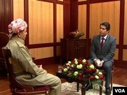 Irak Kürt Bölgesel Yönetimi Başkanı Mesut Barzani, Amerika'nın Sesi Farsça Bölümünden Ali Jawanmardi'yle