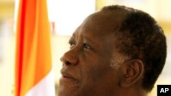 Ivory Coast's presidential claimant Alassane Ouattara at his headquarters in Abidjan, 20 Jan 2011