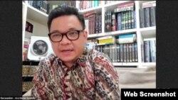 Wakil Ketua Komisi VIII DPR RI, Ace Hasan Syadzly saat menjadi narasumber dalam diskusi dari yang diprakarsai oleh Save The Children Indonesia, Rabu, 19 Agustus 2020. (Foto: Tangkapan Layar)