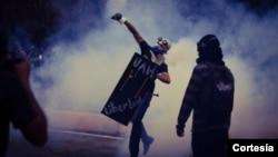 Efectivos de la Guardia Nacional y la policía arremetieron con violencia contra los estudiantes (Foto: UCV)