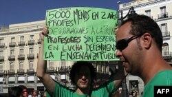 Giáo viên ở Tây Ban Nha biểu tình phản đối cắt giảm ngân sách