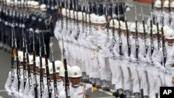 10月10号台湾总统府前举行国庆大典