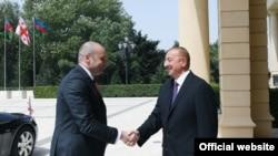 İlham Əliyev və Mamuka Baxtadze