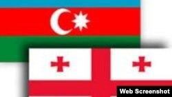 Azərbaycan və Gürcüstan bayraqları