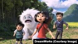 中美合作動畫片《雪人奇緣》的一個畫面。