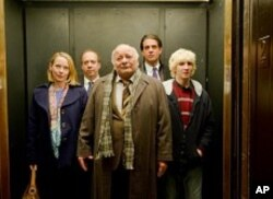 "From left: Amy Ryan, Paul Giamatti, Burt Young, Bobby Cannavale and Alex Shaffer in ""Win Win"""