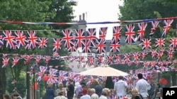 One festive party on the streets of London to celebrate the royal wedding of Prince William and Catherine Middleton, April 29, 2011