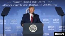 Дональд Трамп выступает на конференции по поддержке американских колледжей и университетов, исторически считающимися афроамериканскими, Вашингтон, 10 сентября 2019 года