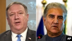 巴基斯坦外交部長庫雷希(右)與美國國務卿蓬佩奧(左)。