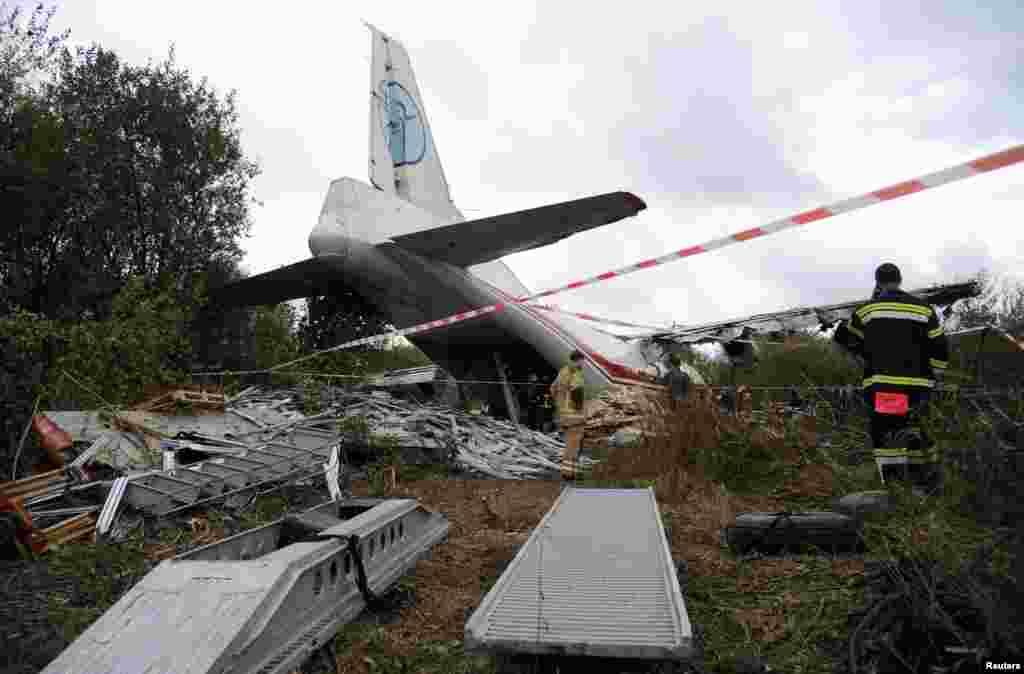 Ukrayna - Antonov-12 karqo təyyarəsi Lvov yaxınlığında qəzaya uğrayıb