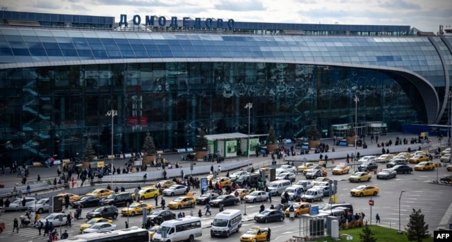 FILES - This file photo taken on October 10, 2017 shows the Domodedovo International Airport outside Moscow.