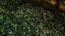 六四31周年香港人首次非法燭光悼念 年青人高呼港獨口號