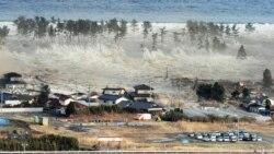 سوگواری بازماندگان قربانیان زمین لرزه و سونامی ژاپن