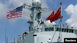 Tàu chiến Trung Quốc trong cuộc diễn tập Vành đai Thái Bình Dương năm 2016.