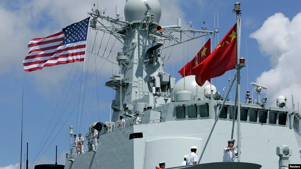 Tàu Trung Quốc tham gia cuộc tập trận RIMPAC ở Haiwaii, Mỹ, năm 2016.