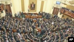 Egypte : première session de la Chambre basse dominée par les islamistes, Le Caire, 23 janvier 2012.