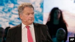 Findland's President Sauli Niinisto says he briefed U.S. President on how the Nordic country effectively monitors its substantial forest resources with a well-working surveillance system.