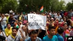 India Gorkha Protest
