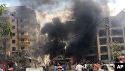 Serangan bunuh diri oleh militan PKK di kota Midyat, Turki, yang berpenduduk umumnya etnis Kurdi, hari Rabu (8/6).