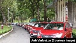 Fadil, dòng xe đầu tiên của Vinfast xuất xưởng, tại TP HCM hôm 17/6. (Ảnh Vinfast.vn)