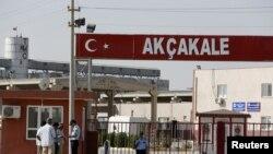 Turkiyaning Suriya chegarasiga yaqin Akchakale shahri, 4-oktabr, 2012-yil.