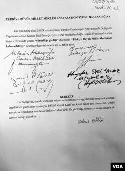 Meclis Anayasa Komisyonu'nda kabul edilen AK Parti önergesi (Y. Yazıcıoğlu)