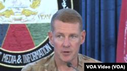 Jenderal Angkatan Darat AS, Wilson Shoffner, di Kabul, Afghanistan.