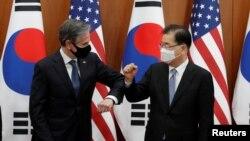 Ngoại trưởng Hoa Kỳ Antony Blinken và Ngoại trưởng Hàn Quốc Chung Eui-yong, ngày 18/3/2021.