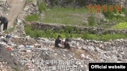 '갈렙선교회'가 지난 9월 웹사이트에 공개한 동영상에 북한 꽃제비 아이들의 모습이 담겨있다. (자료사진)
