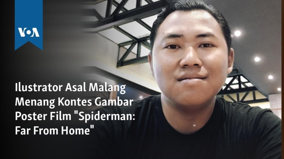 Ilustrator Asal Malang Menang Kontes Gambar Poster Film Spiderman Far From Home