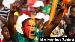 Un supporter ghanéen, Mongomo, 19 janvier 2015