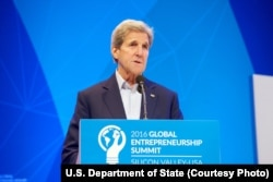 U.S. Secretary of State John Kerry delivers remarks at the Opening Plenary of the 2016 Global Entrepreneurship Summit at Stanford University in Palo Alto, Calif., June 23, 2016.